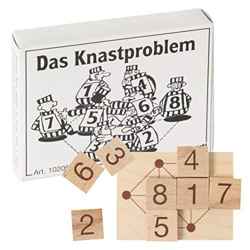 Bartl 102054 Mini-Holz-Puzzle Das Knastproblem aus 1 kleinen Spielbrett und 8 Holzplättchen