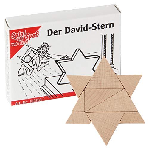 Bartl 102283 Mini-Holz-Puzzle Der David-Stern aus 9 kleinen Holzteilen