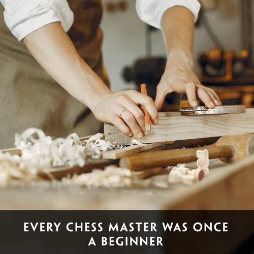 aGreatLife Holz – Schachspiel: Universales Standard Holz Schachbrettspielsatz – Handgefertigte Holzspielstücke, Schachfiguren – mit 15-Zoll Brett und Mit Magnetverschluss – Perfektes Anfänger – Schachspiel für Kinder - 2
