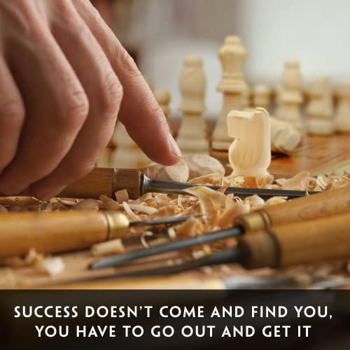 aGreatLife Holz – Schachspiel: Universales Standard Holz Schachbrettspielsatz – Handgefertigte Holzspielstücke, Schachfiguren – mit 15-Zoll Brett und Mit Magnetverschluss – Perfektes Anfänger – Schachspiel für Kinder - 5