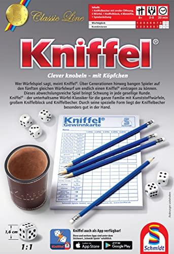 Schmidt Spiele 49203 Classic Line: Kniffel mit gr. Würfeln & Block - 2