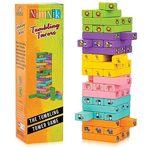 Klassische Besten Wackeltürme Familienspaß Spiele für Kinder - 54 Teile Geschenkideen