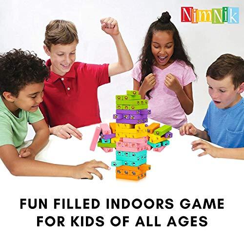 Klassische Besten Wackeltürme Familienspaß Spiele für Kinder – 54 Teile Geschenkideen - 2
