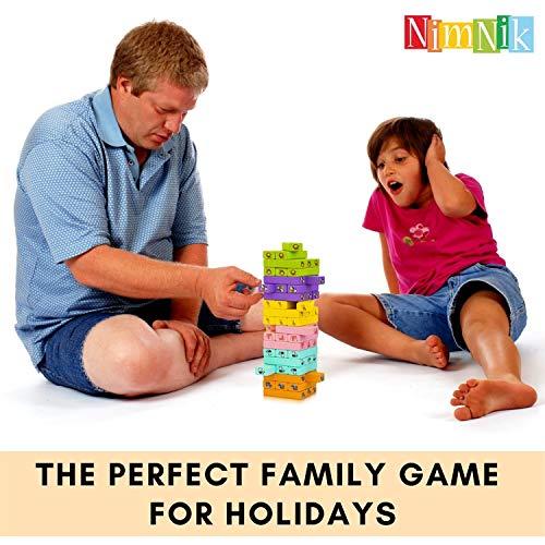 Klassische Besten Wackeltürme Familienspaß Spiele für Kinder – 54 Teile Geschenkideen - 3