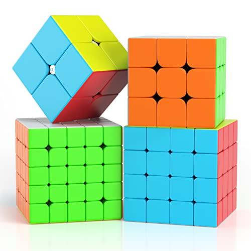 Vdealen Würfel Zauberwürfel Cube Set 2x2 3x3 4x4 5x5 (4 in Paket)