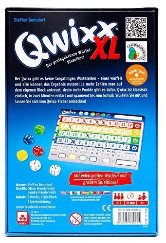 Nürnberger-Spielkarten 4022 – Qwixx XL, Würfelspiel - 2