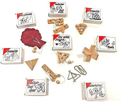 Knobelspiel Klassiker: 8 beliebte Geduldspiele aus Holz, Leder und Metall