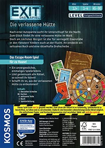 KOSMOS Spiele 692681 – Exit – Das Spiel, Die verlassene Hütte - 2
