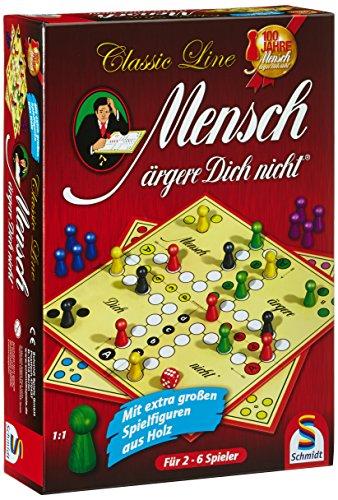 Schmidt Spiele 49085 - Classic Line: Mensch ärgere Dich nicht mit extragroßen Spielfiguren