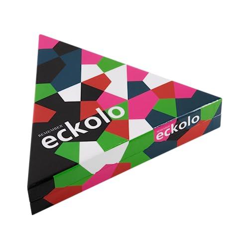 Remember Eckolo Für 2 bis 8 Spieler 6-99 Jahre mit 76 Farbkarten, Anleitung