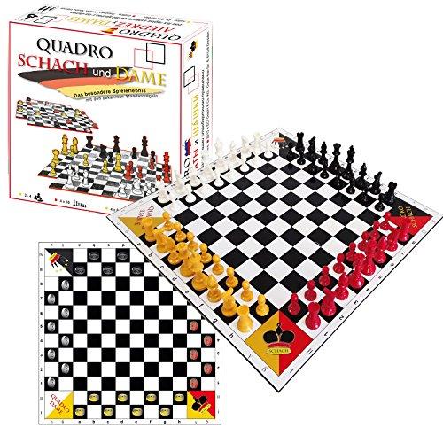 QuadroSchach + QuadroDame - Schach und Dame zu viert
