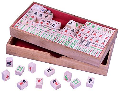 Mayong - Mahjong - Mah Jongg - Mahjongg - Legespiel - Gesellschaftsspiel aus Holz mit 144 Spielsteinen