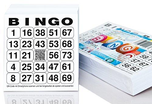 500 Bingolose / Bingotickets System 24 aus 75 (10,5 x 11 cm)