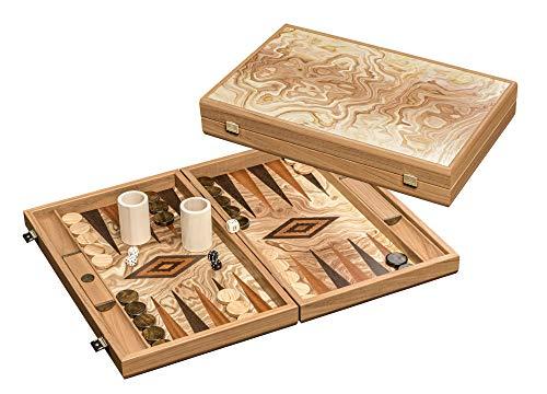 Philos 1820 - Backgammon Marmana - Familien Standardspiel, groß