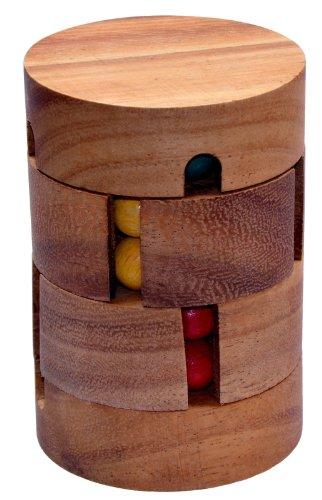 Revolve - Zauberwürfel - Dreh-Puzzle - Kugelpuzzle - Denkspiel - Knobelspiel - Geduldspiel aus Holz