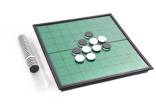 Azerus Standard Line: Klassisches Reversi, Spielbrett mit magnetischen Spielsteinen, Standard Brett Größe M (25cm x 25cm x 2cm), Spielbrett dient gleichzeitig als Reisebox und Aufbewahrungsschachtel aus Metall, Art. 56500 DE