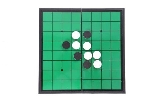 Azerus Standard Line: Klassisches Reversi, Spielbrett mit magnetischen Spielsteinen, Standard Brett Größe M (25cm x 25cm x 2cm), Spielbrett dient gleichzeitig als Reisebox und Aufbewahrungsschachtel aus Metall, Art. 56500 DE - 2
