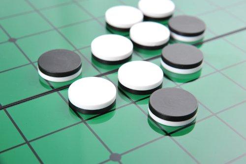 Azerus Standard Line: Klassisches Reversi, Spielbrett mit magnetischen Spielsteinen, Standard Brett Größe M (25cm x 25cm x 2cm), Spielbrett dient gleichzeitig als Reisebox und Aufbewahrungsschachtel aus Metall, Art. 56500 DE - 3
