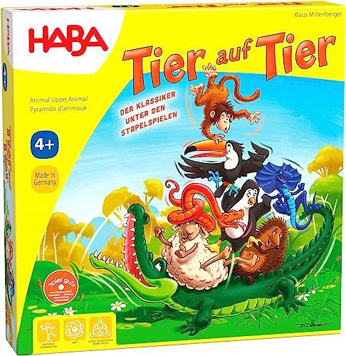 HABA 4478 - Tier auf Tier, Stapelspiel