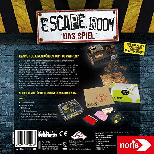 Noris Spiele 606101546 – Escape Room inkl. 4 Fällen und Chrono Decoder - 2