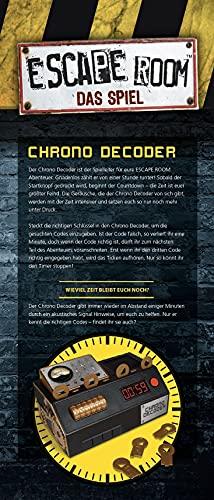 Noris Spiele 606101546 – Escape Room inkl. 4 Fällen und Chrono Decoder - 4