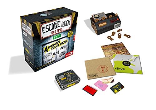 Noris Spiele 606101546 – Escape Room inkl. 4 Fällen und Chrono Decoder - 6